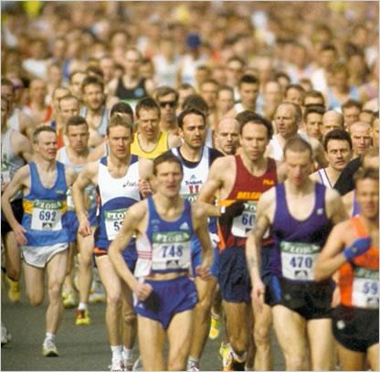 Hard rennen en vooraan zien te komen, vooral in aanhang...
