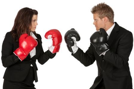 Boze blikken en bokshandschoenen, conflict en geweld