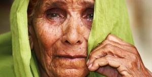 Moeder huilt