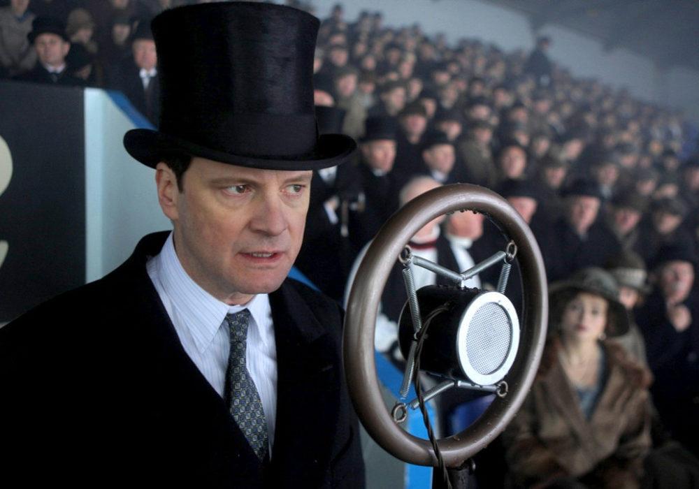 Colin Firth in speelt op indrukwekkende wijze de stotterende Koning George VI die zijn spreekangst en paniek moest overwinnen in The Kings Speech