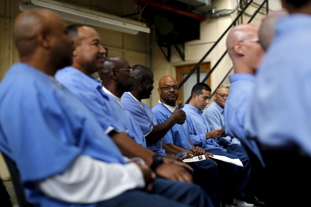Gevangenen in San Quentin leren samen hoe ze hun leven kunnen verbeteren, bijvoorbeeld in Jacques Verduin's programma Guiding Rage Into Power (GRIP)