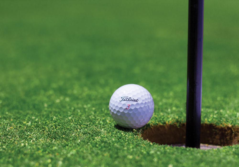 Doelen Saboteren, 10 sabotages voor het bereiken van doelen: Deze golfbal mist zijn doel met een grasspriet